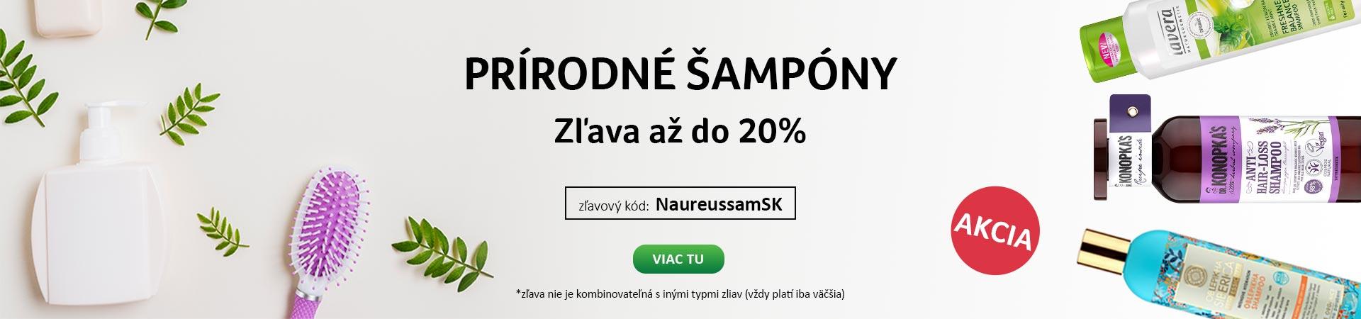 20% zľava na Šampóny do 20.09.2020+ Doprava zadarmo s Liptavia a Ecohead