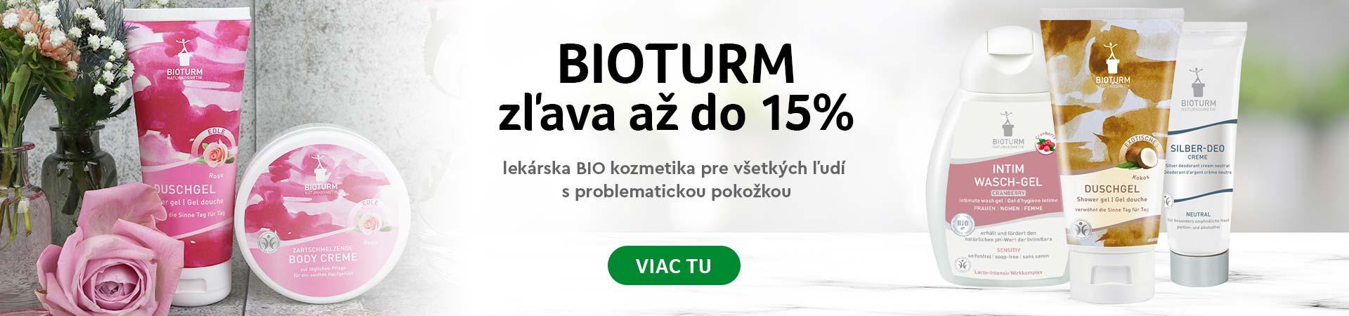 Zľava 15% kozmetika Bioturm