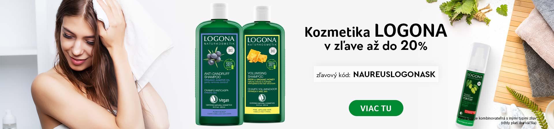 20% na všetky produkty značky Logona do zajtra 22.10.2020 + Doprava zadarmo s vybranými produktmi
