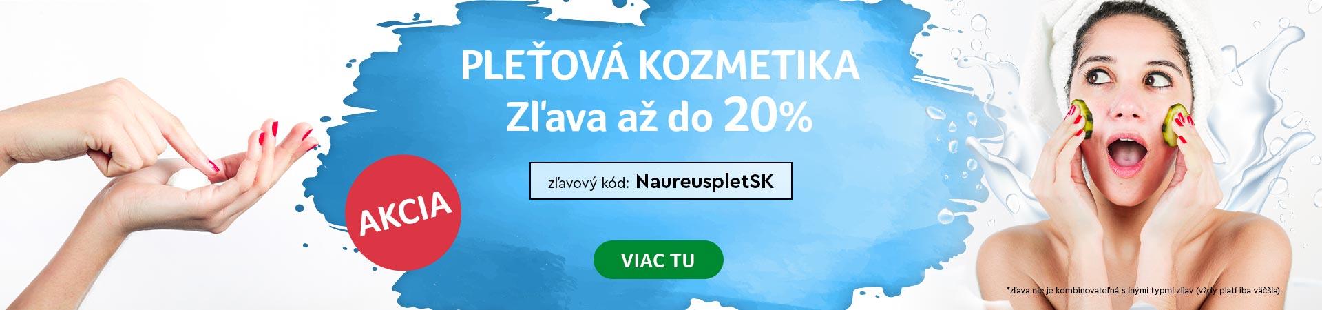 20% Zľava na pleťovú kozmetiku do 11.08.2020 + doprava zadarmo s Liptavia