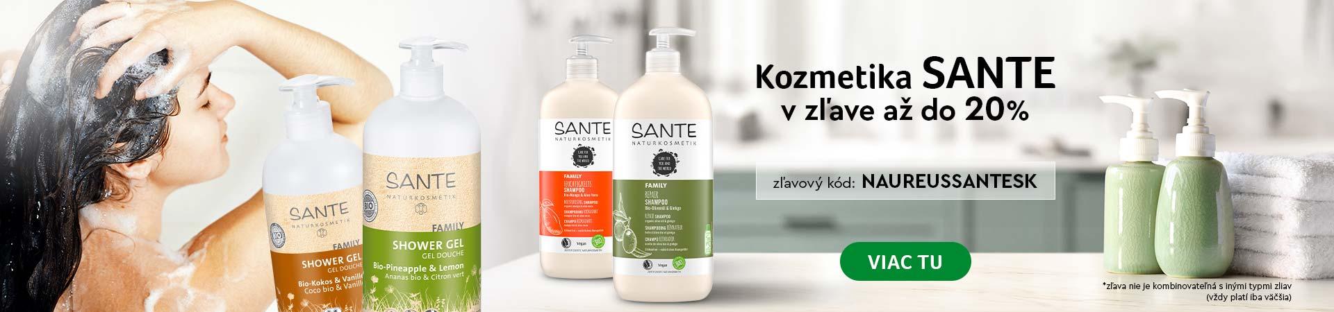 20% Zľava kozmetika Sante do zajtra 20.10.2020 + Doprava zadarmo s vybranými značkami