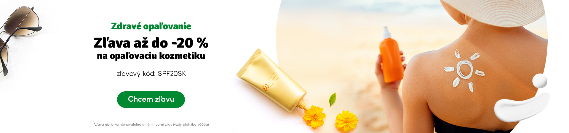 Opaľovacia kozmetika do -20% - kód SPF20SK