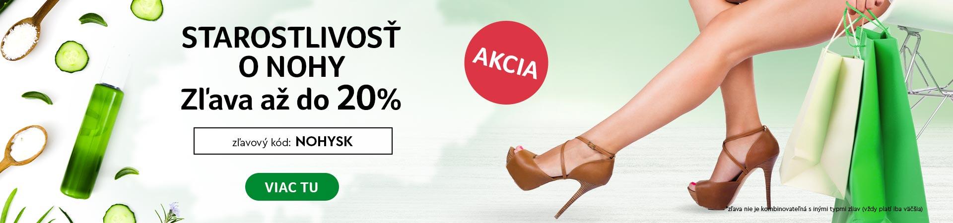 Krásne nohy, pripravte sa na leto s 20% zľavou na celú kategóriu do 31.05.2020