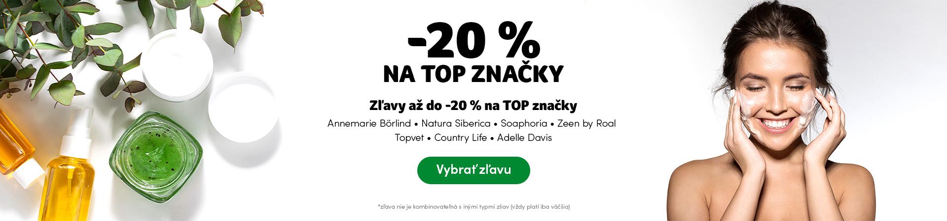 TOP značky v zľave do -20%