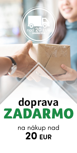 Doprava zadarmo nad 20 eur do 17.01.2020