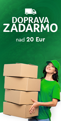 Doprava zadarmo nad 20 eur do 27.09.2020