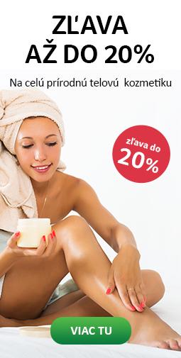TOP zľava až do 20% na celú telovú kozmetiku do nedele 21.07.2019