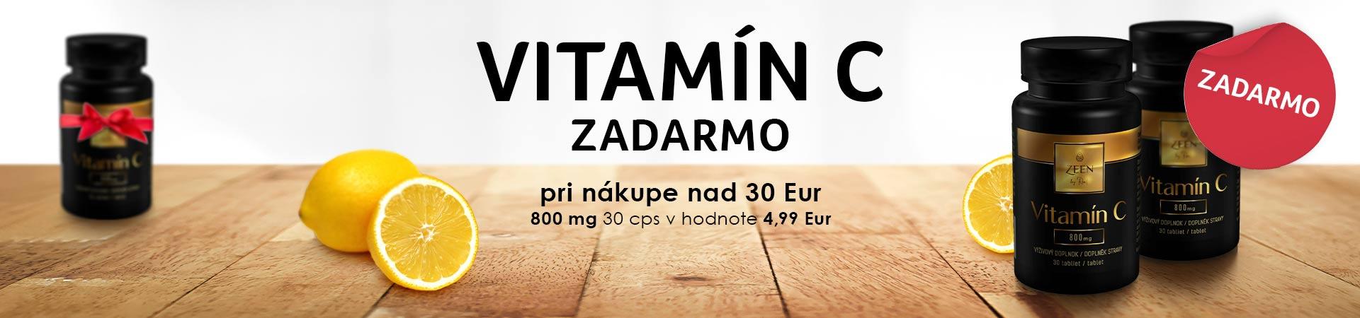 Vitamín C zadarmo + doprava zadarmo s vybranými produktmi