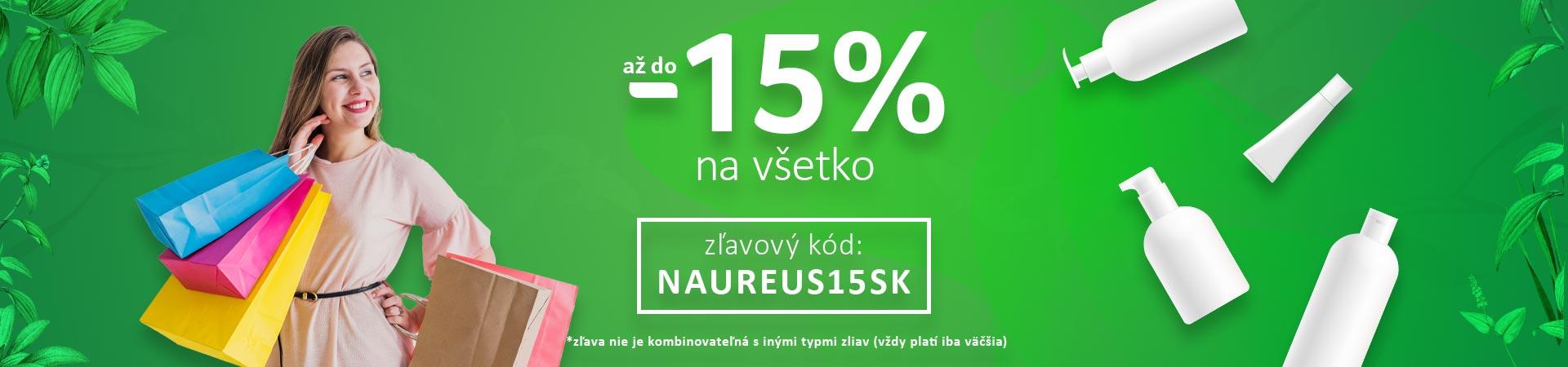 15% zľava na všetko