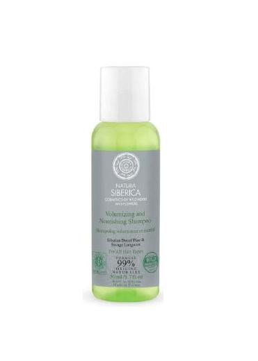 Natura Siberica Šampón - Objem a starostlivosť pre všetky typy vlasov - Cestovné balenie 50 ml