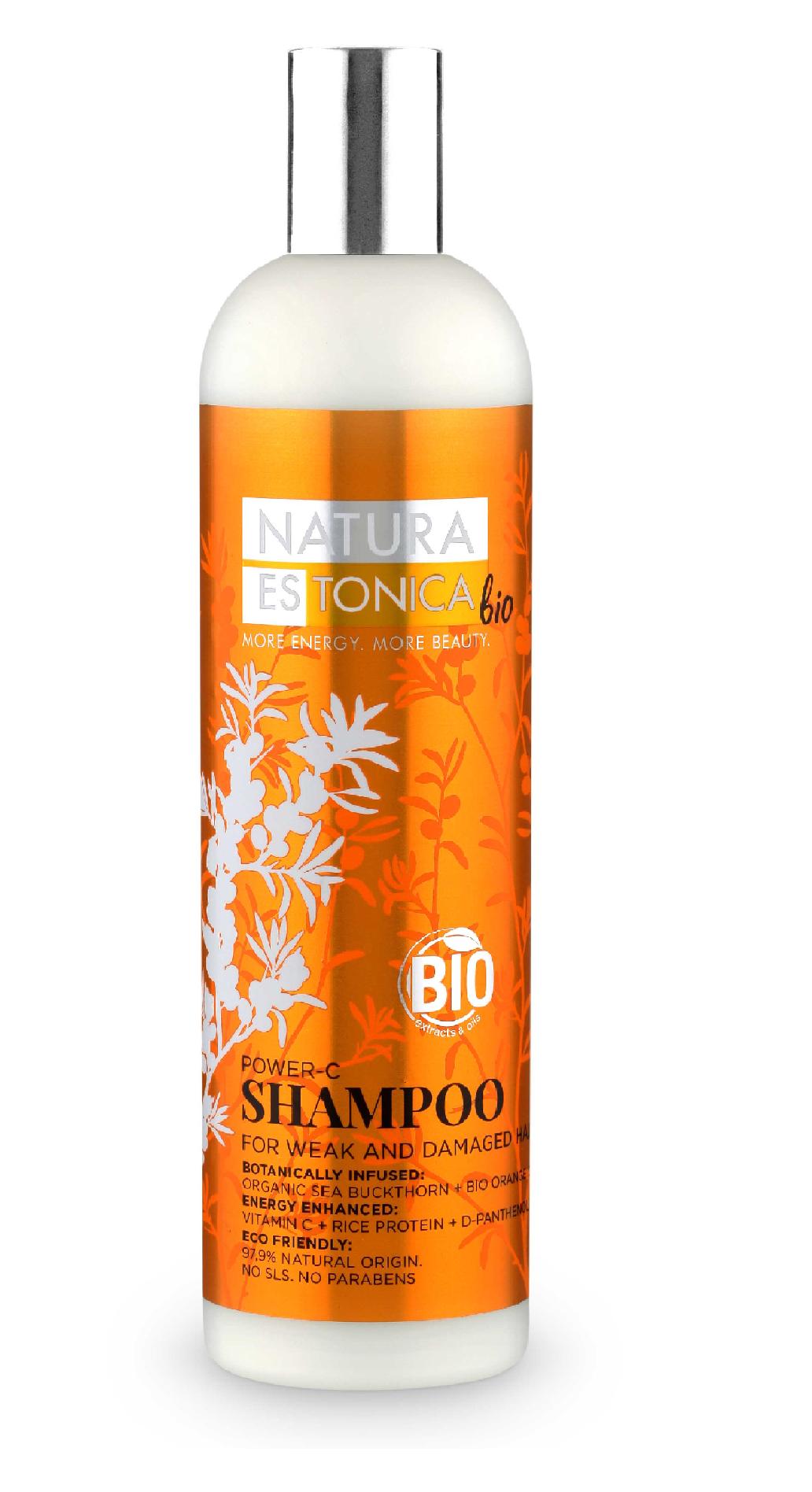 Natura Siberica Natura Estonica -  Šampón pre slabé a zničené vlasy s vitamínom C 400 ml