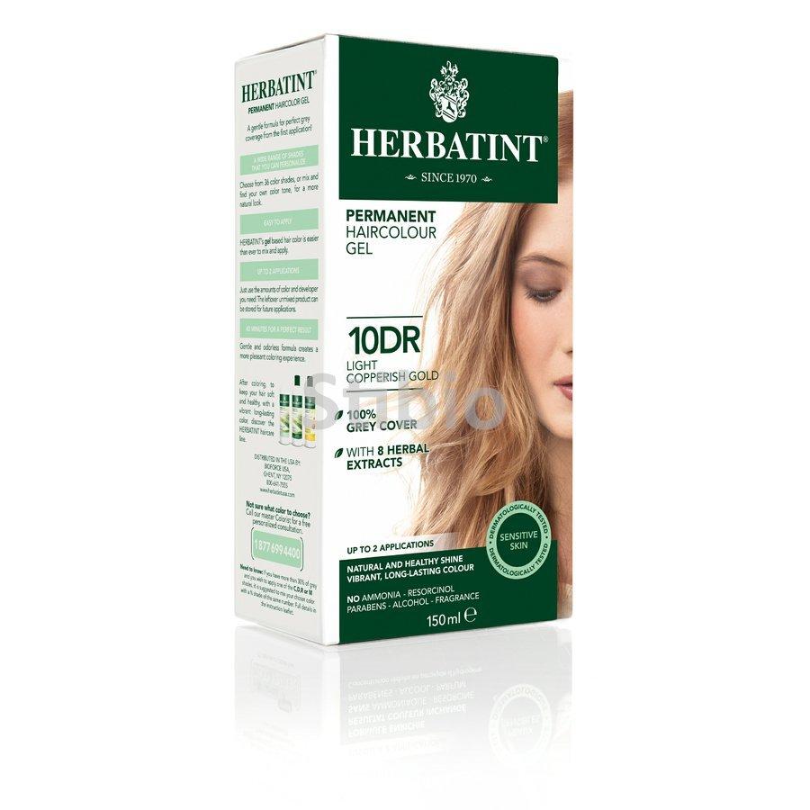 HERBATINT pernamentná farba na vlasy svetlo-medeno zlatá 10DR