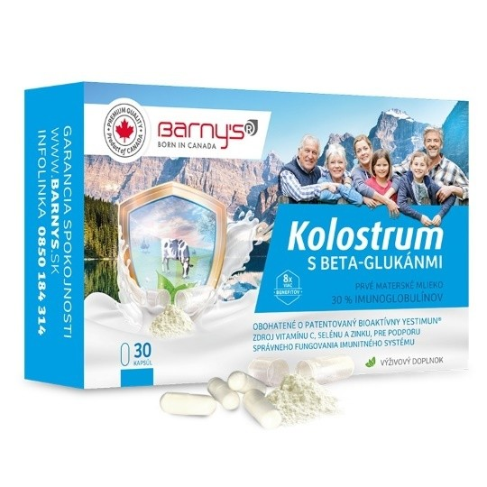 Barny's KOLOSTRUM s beta-glukánmi cps 1x30 ks