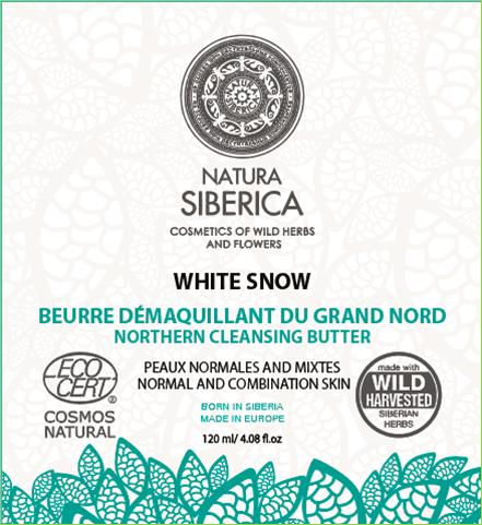 Natura Siberica Severské biele čistiace maslo 120 ml