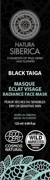 Natura Siberica Severská čierna maska na tvár 80 ml