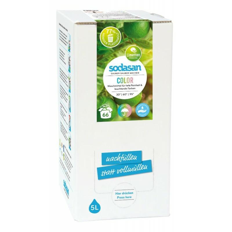SODASAN COLOR tekutý prací prostriedok LIME na farebné prádlo - 5 litrov 5 litrov