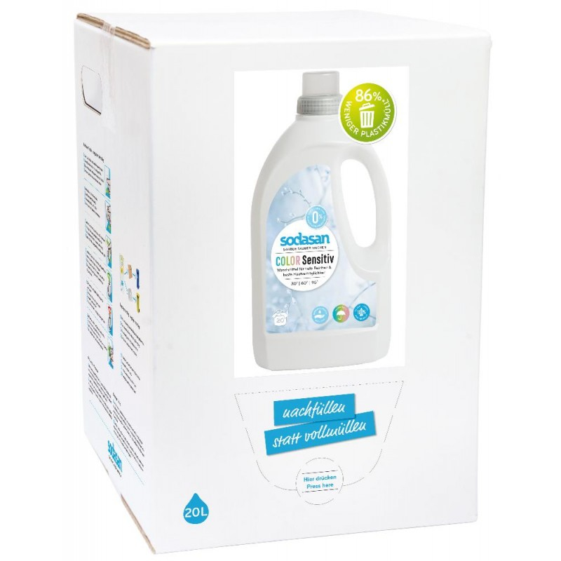 SODASAN COLOR Sensitiv tekutý prací prostriedok na farebne prádlo - 20 litrov 20 litrov