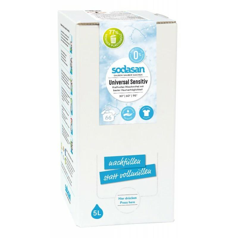SODASAN Universal tekutý prací prostriedok sensitive - 5 litrov 5 litrov