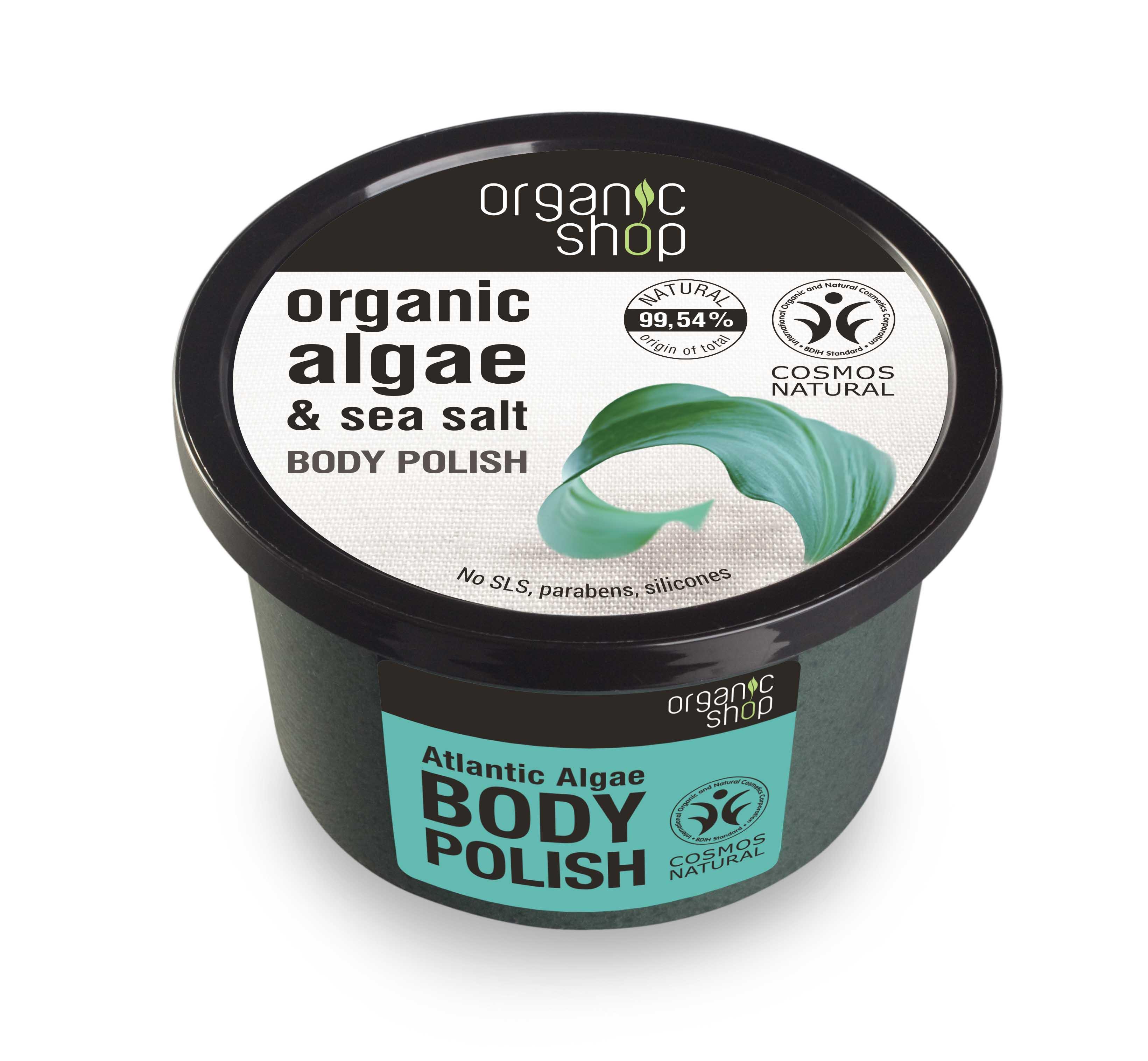 Organic Shop - Telový peeling z rias Atlantiku 250 ml