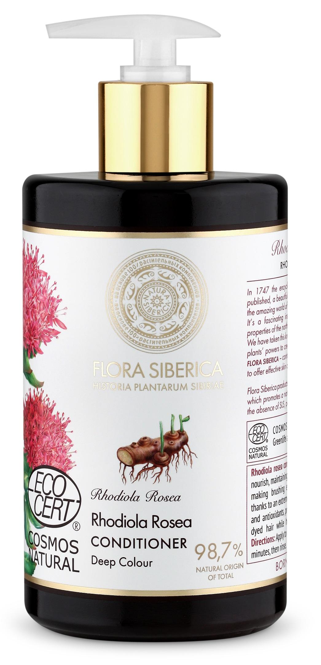 Natura Siberica Flora Siberica - Kondicionér na vlasy pre sýtu farbu 480 ml