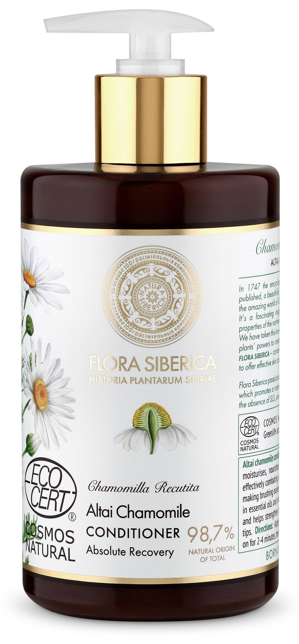 Natura Siberica Flora Siberica - Kondiconér na vlasy pre dokonalé uzdravenie poškodených vlasov 480 ml