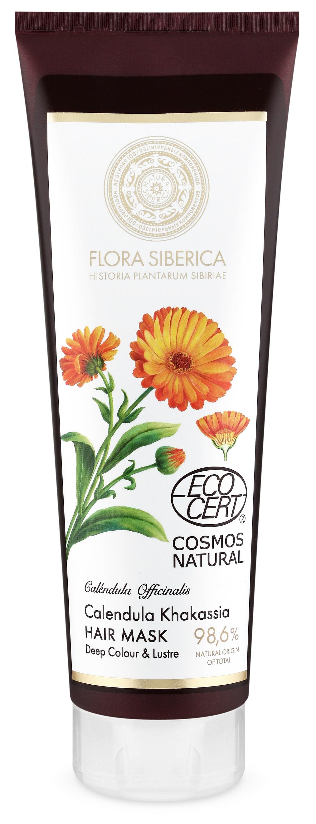 Natura Siberica Flora Siberica - Maska na vlasy pre sýtu farbu a lesk - Nechtík 200 ml