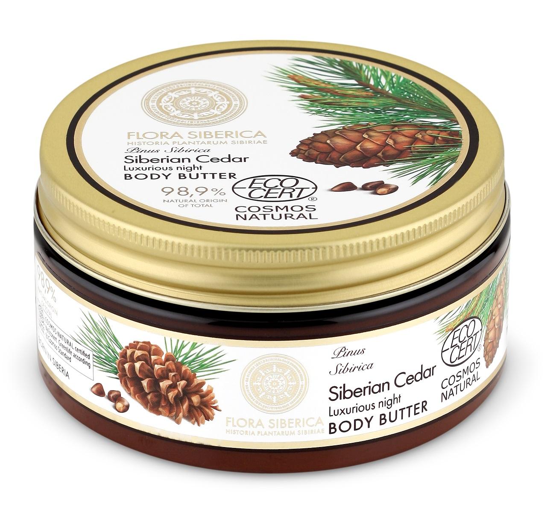 Natura Siberica Flora Siberica - Luxusné nočné telové maslo - Sibírsky céder 300 ml
