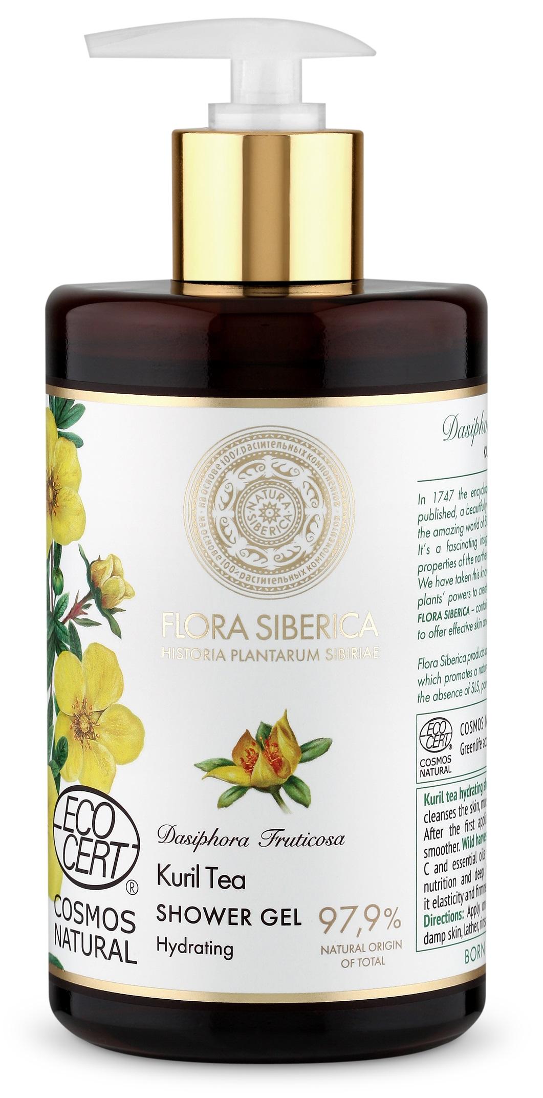 Natura Siberica Flora Siberica - Hydratačný sprchový gél - Kurilský čaj 480 ml