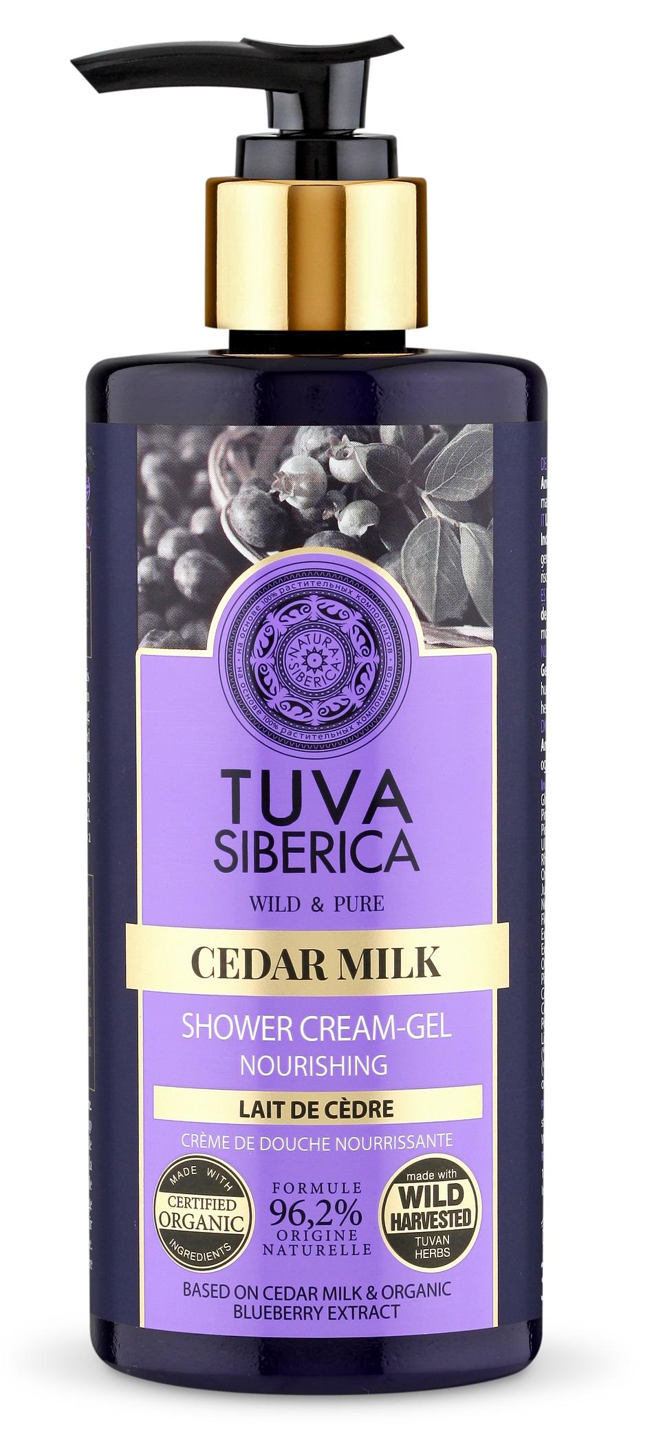 Natura Siberica Tuva Siberica - Výživný krémový sprchový  gél - Cédrové mlieko