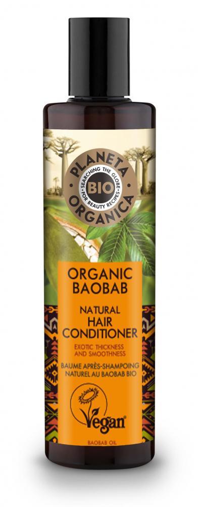 Natura Siberica Kondicionér pre husté a hladké vlasy Baobab 280 ml