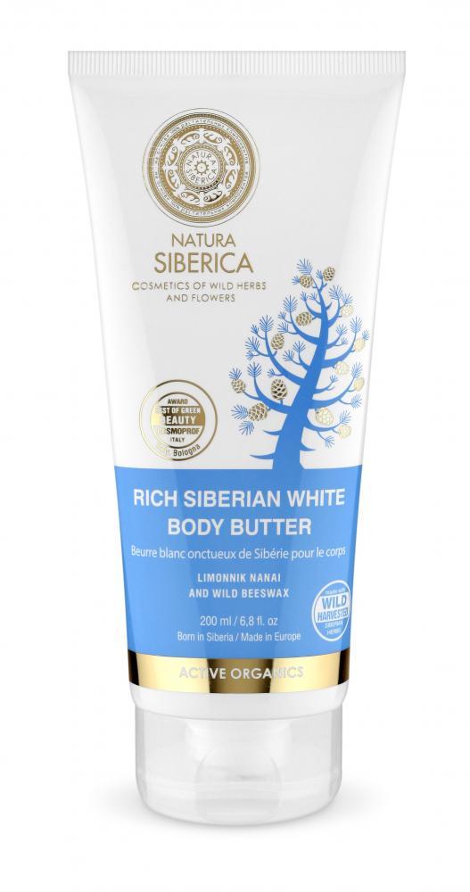 Bohaté sibírske biele telové maslo proti celulitíde
