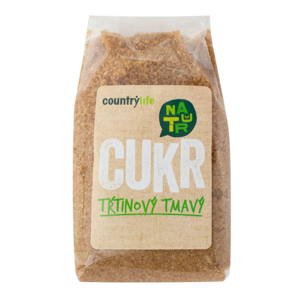 Country Life Cukor trstinový tmavý 500 g COUNTRY LIFE 500 g