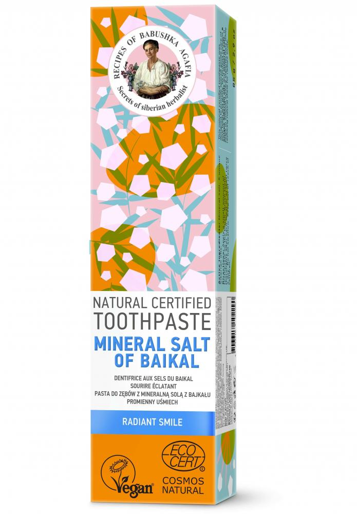 RBA Prírodná certifikovaná zubná pasta - Bajkalská minerálna soľ -Žiarivý úsmev