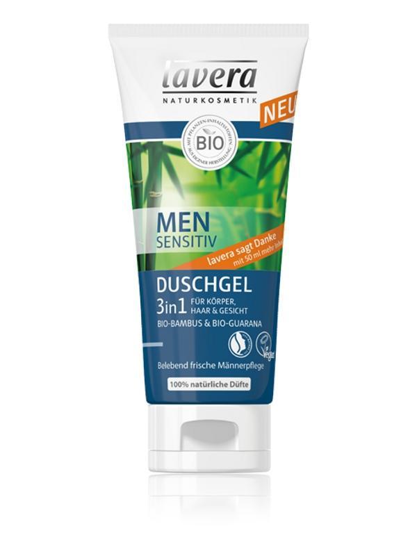 Osviežujúci vlasový a telový šampón 3 v 1 pre mužov