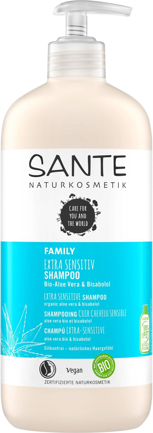 Sante Šampón extra sensitive Bio-Aloe Vera a Bisabolol - 500ml 500ml