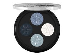 Lavera Minerál. očné tiene Quattro 7 modrá platina