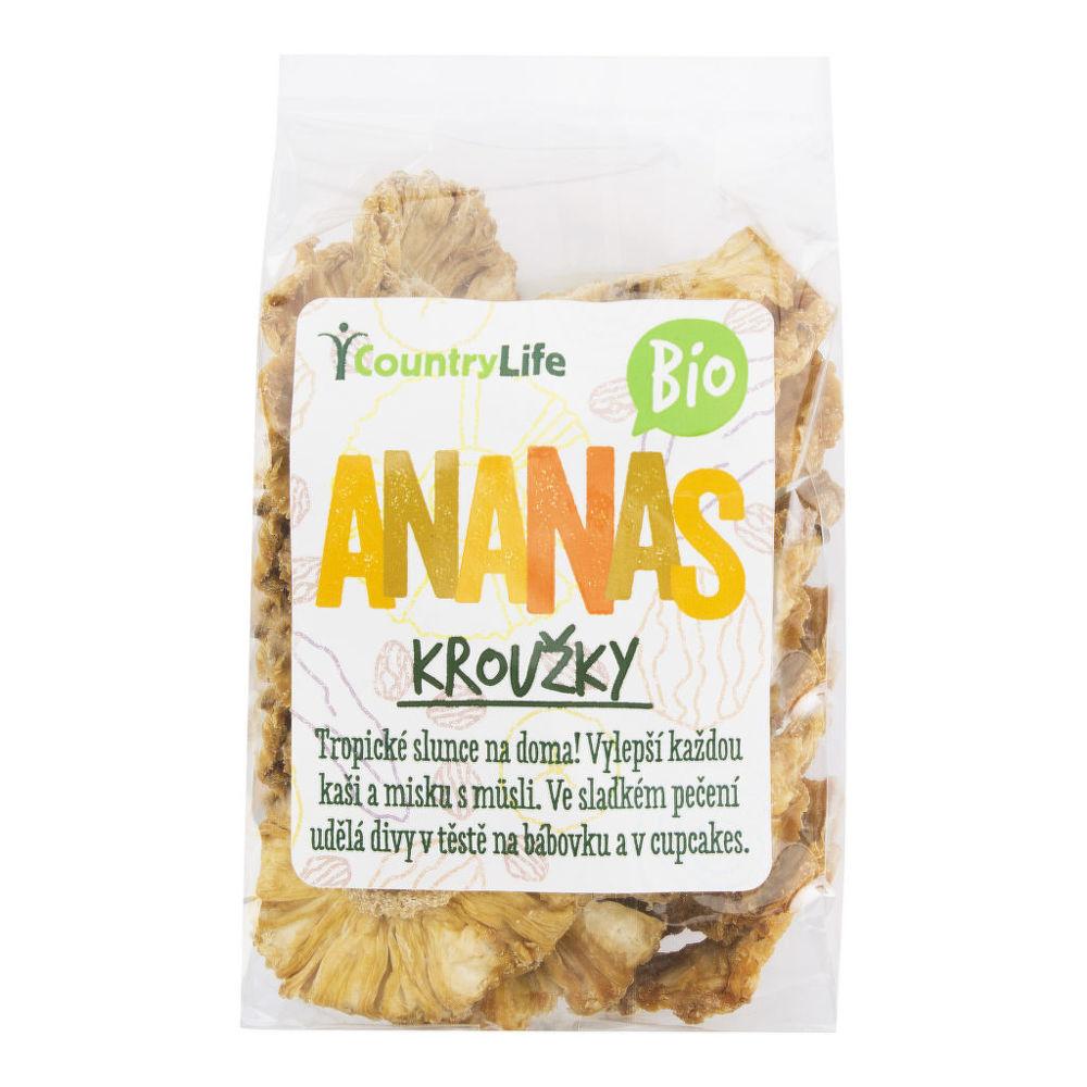 Country Life Ananás krúžky sušené 100 g BIO 100 g