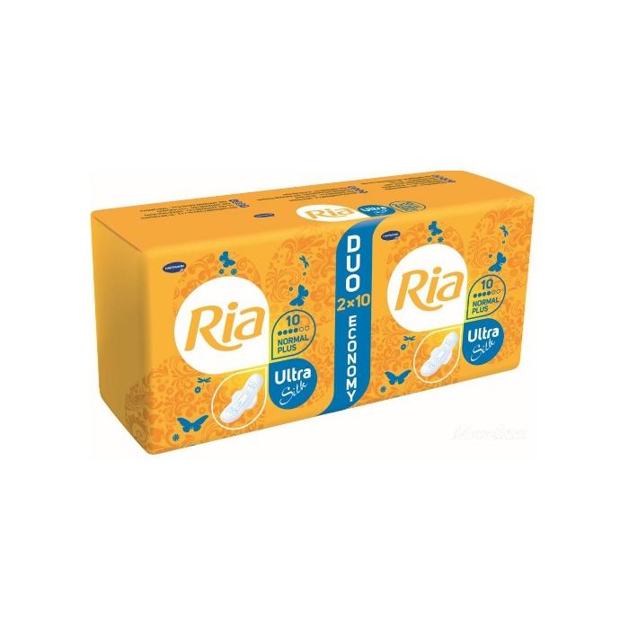 Ria Ultra Silk normal PLUS NIGHT DUOPACK hygienické vložky 2x8 ks (16 ks)