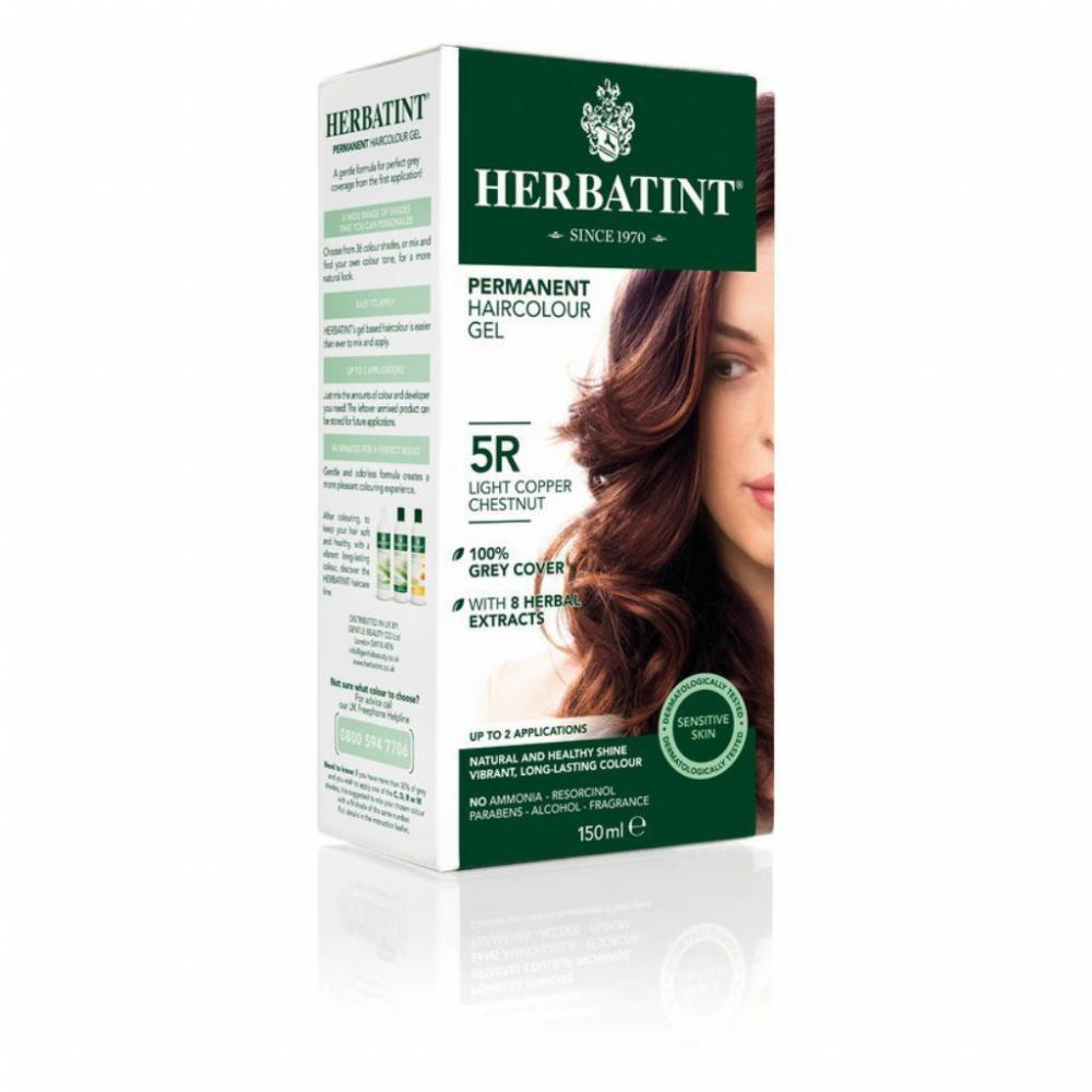 HERBATINT permanentná farba na vlasy Svetly medený gaštan  5R