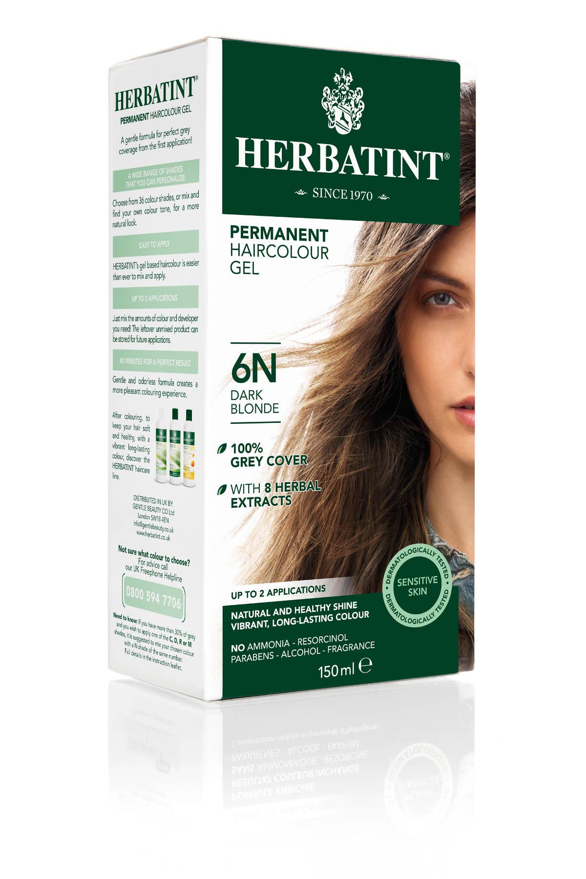 HERBATINT permanentná farba na vlasy tmavá blond 6N