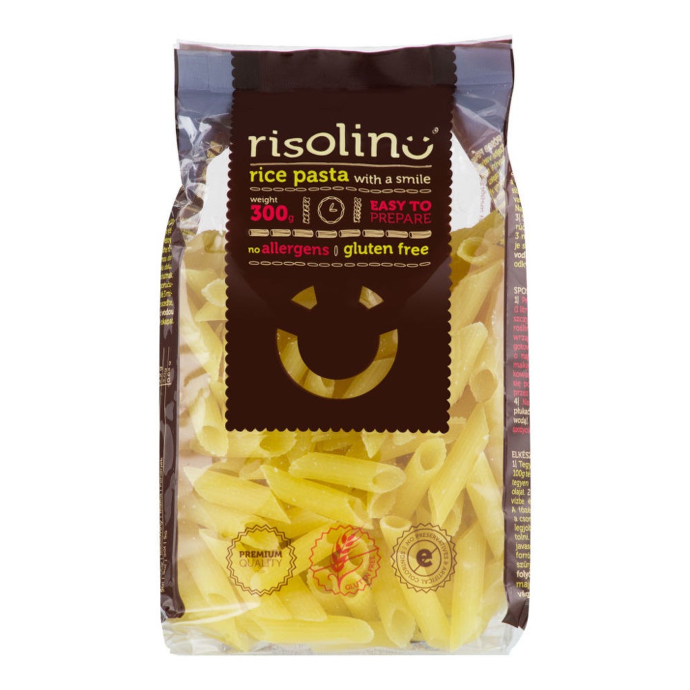 Cestoviny penne ryžové bezlepkové 300 g RISOLINO
