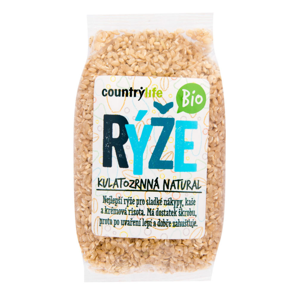 Ryža guľatozrnná natural 500 g BIO COUNTRY LIFE