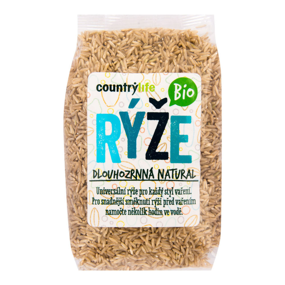 Ryža dlhozrnná natural 500 g BIO COUNTRY LIFE