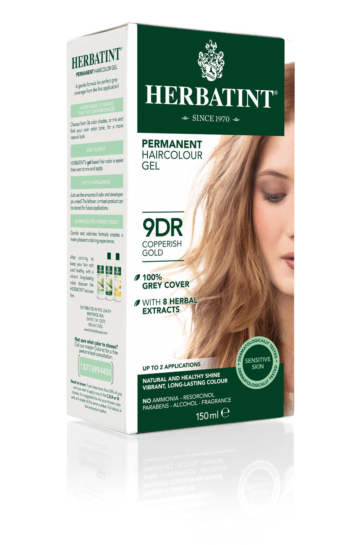 HERBATINT HERBATINT permanentná farba na vlasy medená zlatá 9DR 150 ml