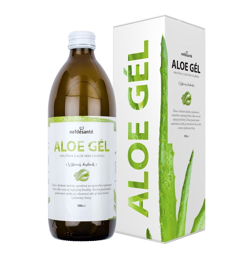 Nefdesante ALOE GÉL (100 % šťava z Aloe Vera s dužinou 500 ml) 500 ml