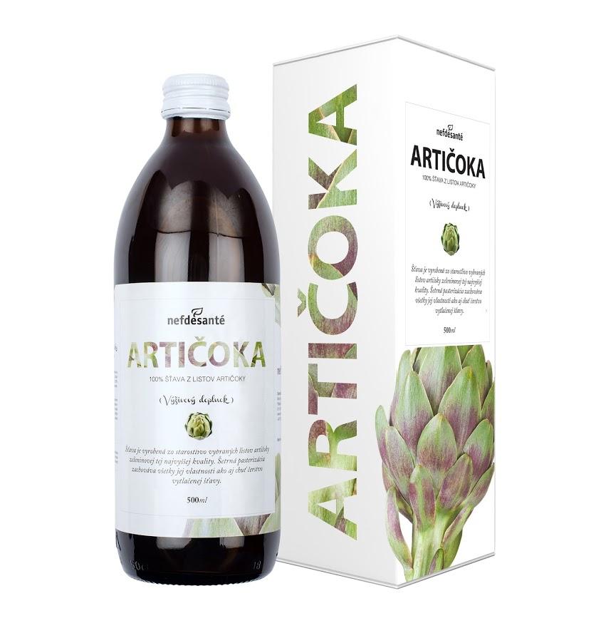 ARTIČOKA (100 % šťava z listov artičoky zeleninovej s prídavkom vit. C 500 ml)