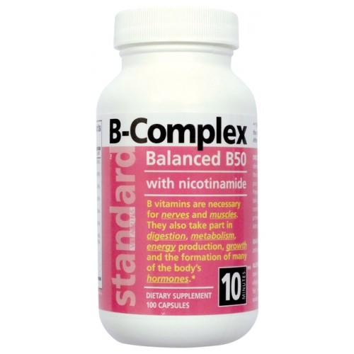 NUlab Vitamín B komplex 50mg 90 g/100 kapsúl