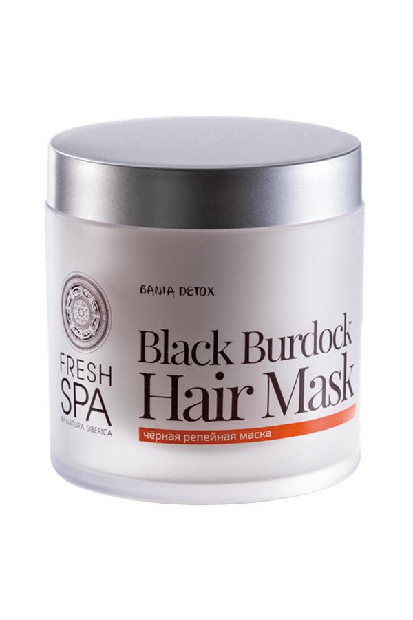 Natura Siberica Maska pre podporu rastu vlasov Čierny Lopúch BANIA DETOX 400 ml