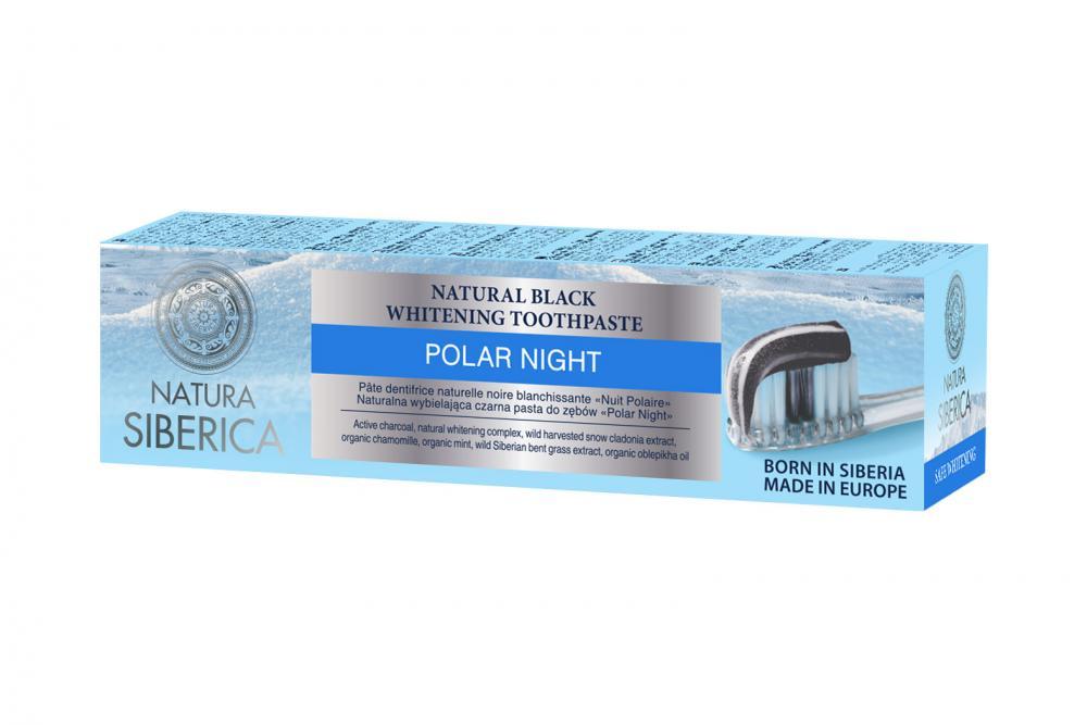 Prírodná sibírska bieliaca zubná pasta Čierna noc 100g