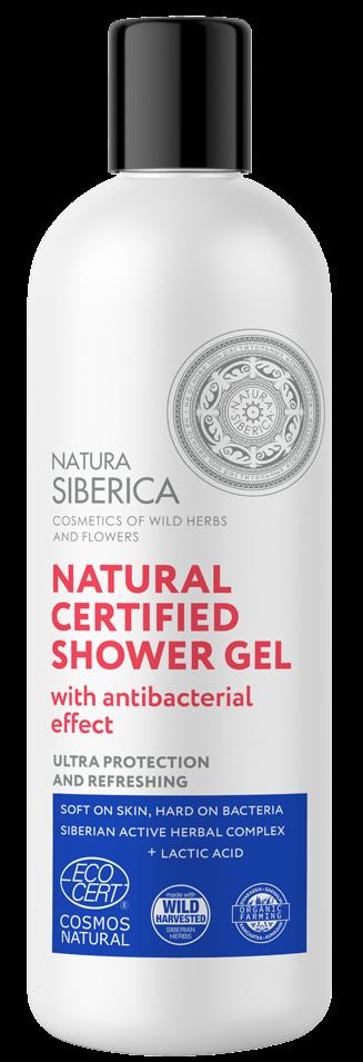 Prírodný certifikovaný sprchový gél s antibakterialným účinkom